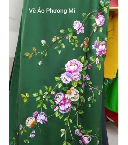 Tranh vẽ áo nghệ thuật-Vườn hồng MVA006