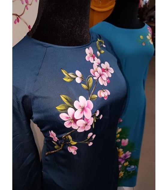 Tranh vẽ áo nghệ thuật-Vườn hoa anh đào MVA005