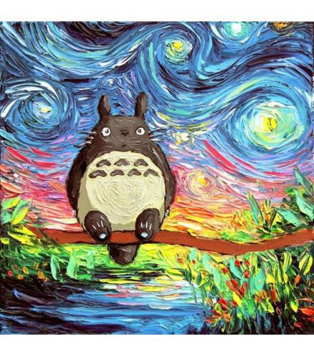 tranh sơn dầu cho bé- Ghibli HH006