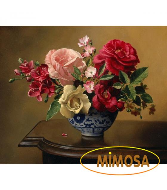 Tranh sơn dầu tĩnh vật_Hoa Hồng 3 MM016
