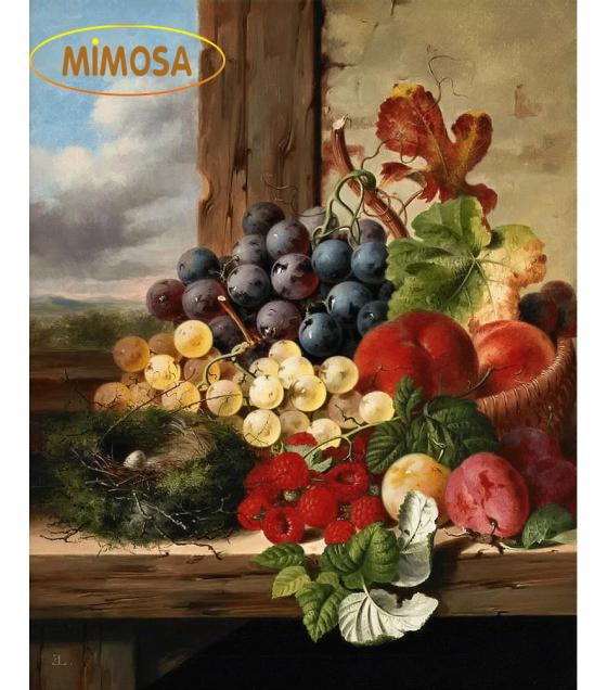 Tranh sơn dầu tĩnh vật _ Giỏ trái cây MM011