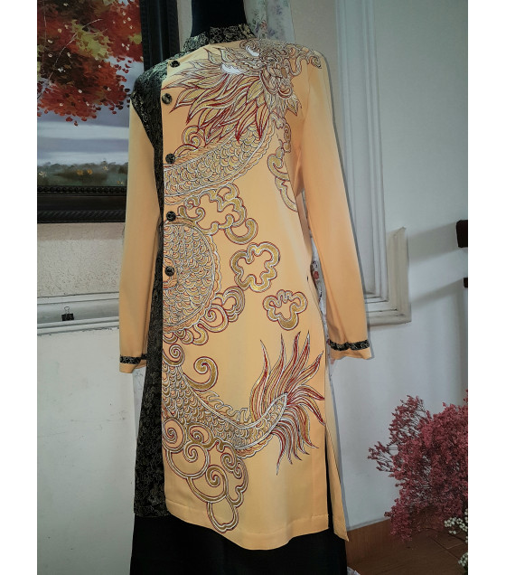 Tranh vẽ áo nghệ thuật-Rồng Thiên MVA004