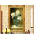 Tranh sơn dầu nghệ thuật-Hoa Hồng trắng MM002